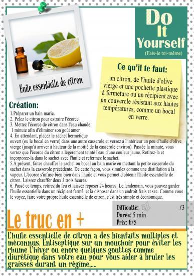 Huille essentiel citron